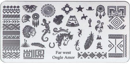 Far West - Plaque de stamping