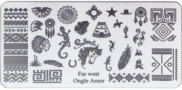 Far West – Plaque de stamping