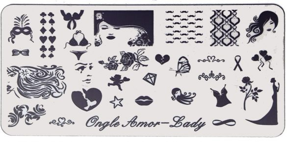 Lady – Plaque de stamping