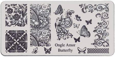 Butterfly - plaque de stamping