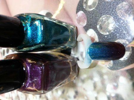 Vernis Stamping Bleu Pailletes -