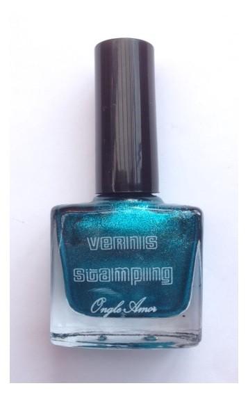 Vernis Stamping Bleu Pailletes –