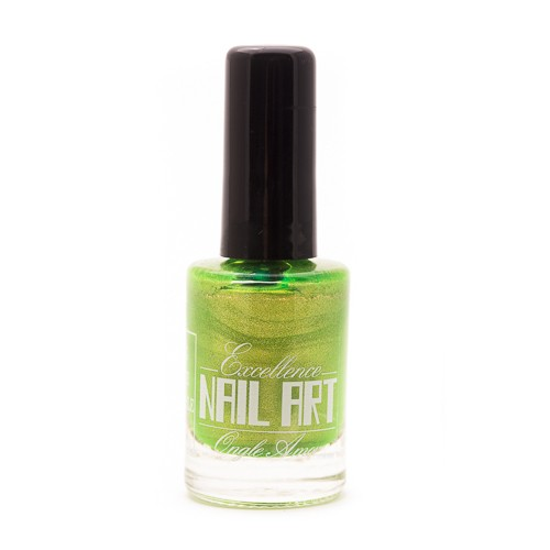 Vernis Stamping – Vert Anis Pailleté – Excellence Nail Art