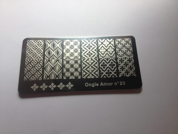Plaque  ONGLE AMOR n°20