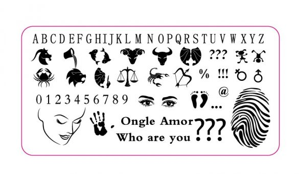 Plaque Who are you ONGLE AMOR