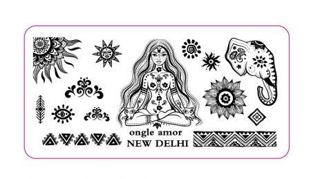 Plaque New Delhi ONGLE AMOR