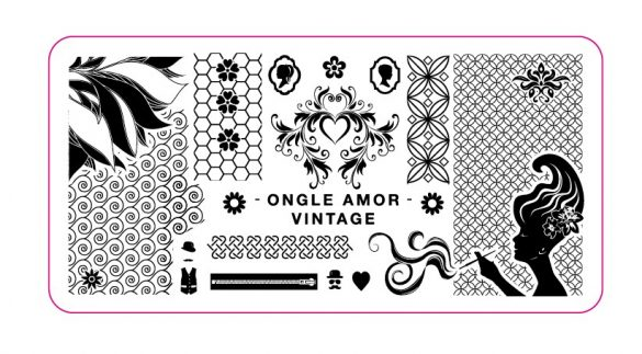 Plaque Vintage ONGLE AMOR