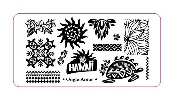 Plaque Hawaii ONGLE AMOR