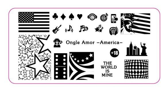 Plaque América ONGLE AMOR