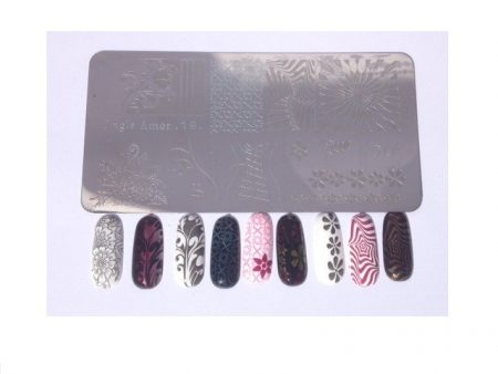 Double Plaque de Stamping XL N°5/6 ONGLE AMOR