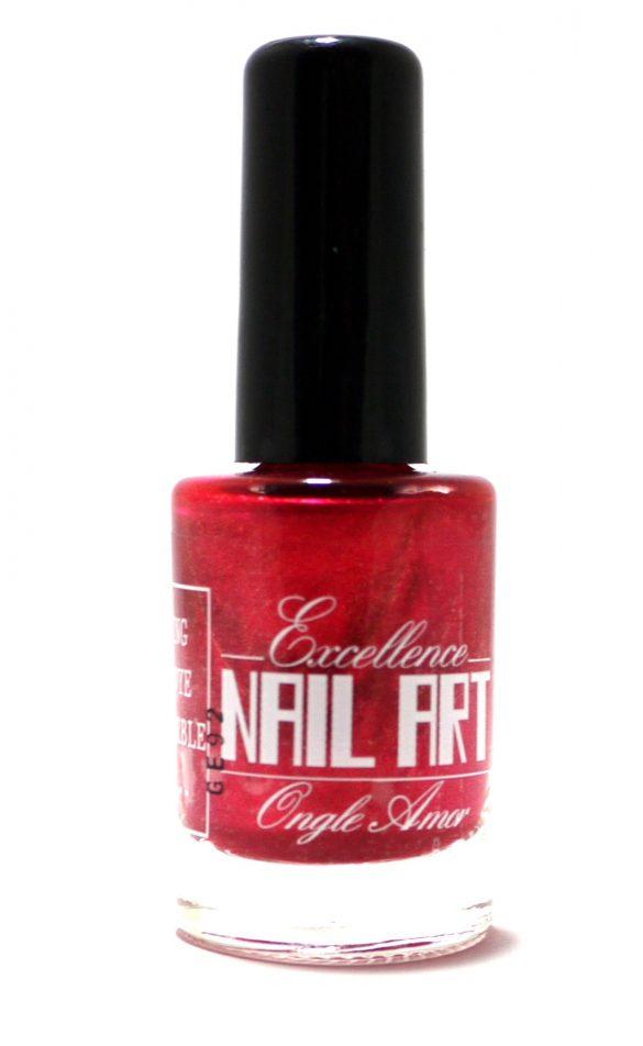 Vernis Stamping – Rose cerise Pailleté – Excellence Nail Art