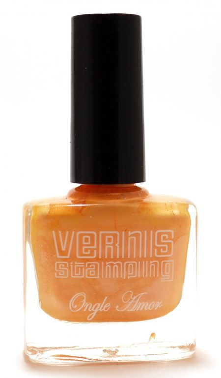 Vernis Stamping Orange Nacré -