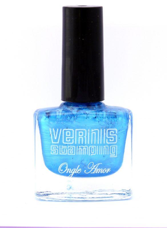 Vernis Stamping Bleu Nacre –