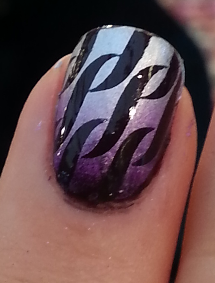Double Plaque de Stamping XL N°3/4 ONGLE AMOR