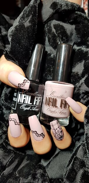 Vernis Stamping Exellence Nail Art NUDE POUDREE