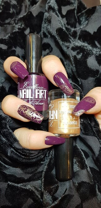 Vernis Stamping Exellence Nail Art OR