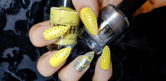 Vernis Stamping – Argenté pailleté – Excellence Nail Art