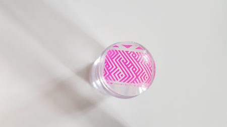 Vernis Stamping Exellence Nail Art ROSE FLUO