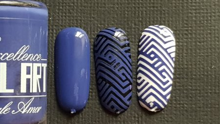 Vernis Stamping Exellence Nail Art BLEU OUTRE MER