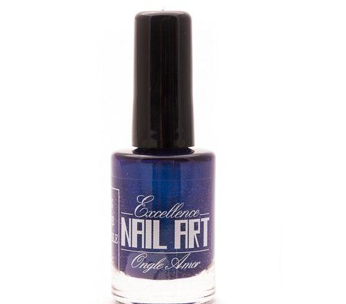 Vernis Stamping – Bleu métal intense – Excellence Nail Art