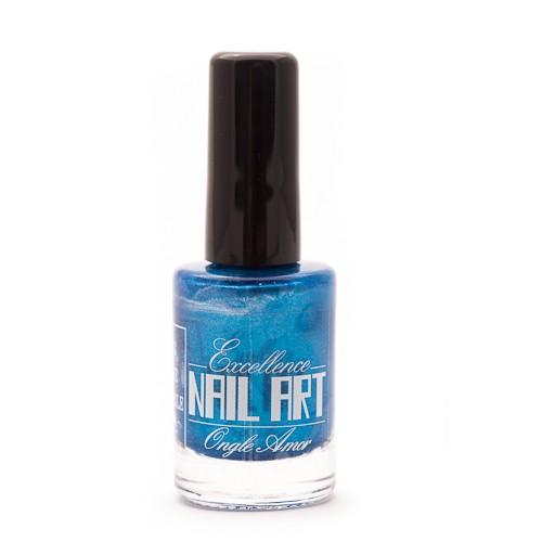 Vernis Stamping – Bleu métal moyen – Exellence Nail Art