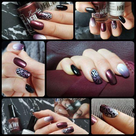 Vernis Stamping Exellence Nail Art BURGUNDY