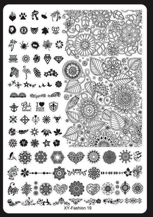 Plaque Stamping M n°19 Nouvelle Génération