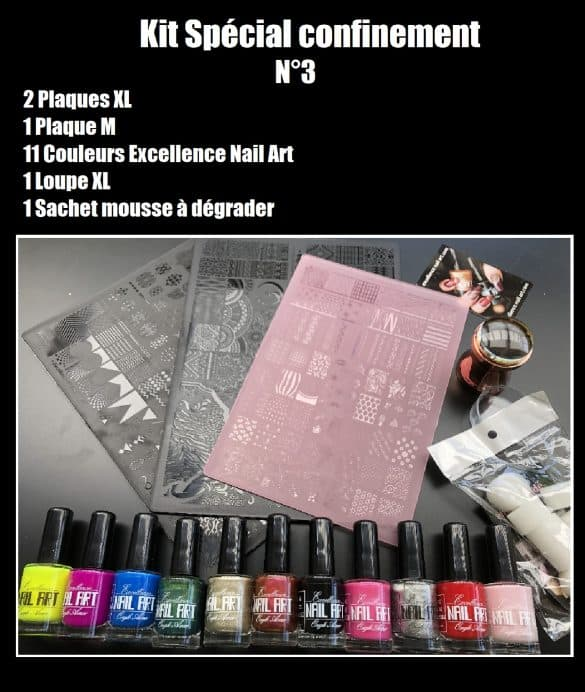 Kit spécial confinement 3- Excellence Nail Art
